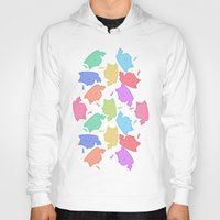 mew Hoodies featuring Mew-Boo by Lixxie Berry Illustration
