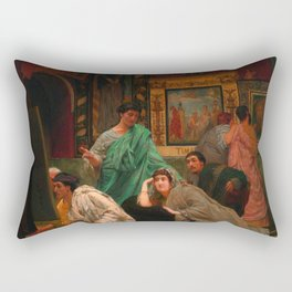 "Sir Lawrence Alma-Tadema ""A Collection of Pictures at the Time of Augustus"" Rectangular Pillow"