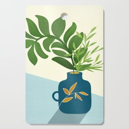 Vintage Window Garden / Botanical Illustration Cutting Board