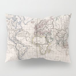 Vintage Map of The World (1856) Pillow Sham