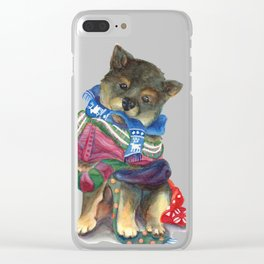 Covered in Neck Blankets Clear iPhone Case
