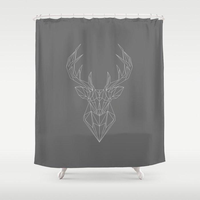 Geometric Buck Shower Curtain