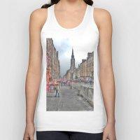 edinburgh Tank Tops featuring Edinburgh by Christine Workman