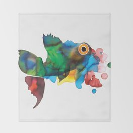 colorful fish Throw Blanket