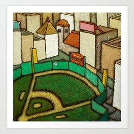 Greener Pastures: 42 Art Print