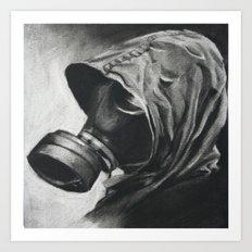 The Gas Mask Art Print