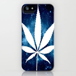 Weed : High Times Blue Galaxy iPhone Case