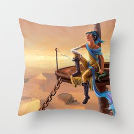 The Sea of Sand Throw Pillow