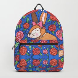 Spring Bunny & Roses Backpack