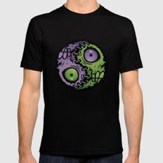 Zombie Yin-Yang Mens Fitted Tee Black LARGE
