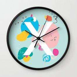 X Monogram Wall Clock