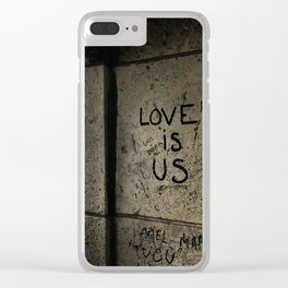 Love is Us Clear iPhone Case