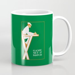 Game set and match retro tennis referee Coffee Mug