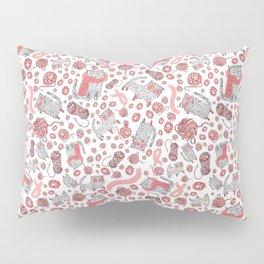 Fluffy Cat Pattern Pillow Sham