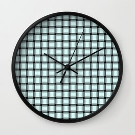 Small Light Cyan Weave Wall Clock