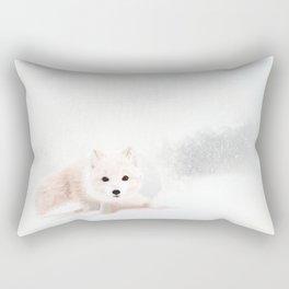 Fox In A Snowstorm Rectangular Pillow