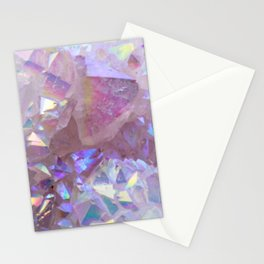 Pink Aura Crystals Stationery Cards