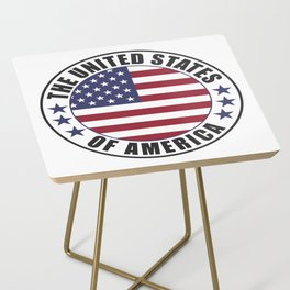 The United States of America - USA Side Table