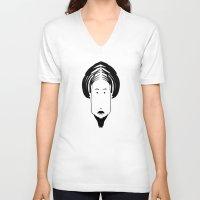 asian V-neck T-shirts featuring Asian Guru by EYE ECHO