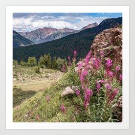 Molas Pass Mountain Landscape - Colorado San Juan Mountains Art Print