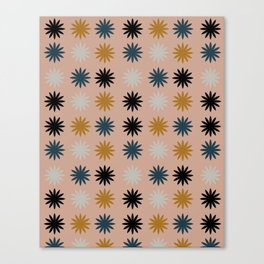 Flower Shapes Pattern Canvas Print