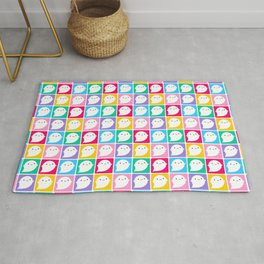 Colourful Little Ghosts Rug
