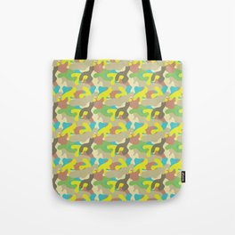 Turquoise Camo Pattern Tote Bag