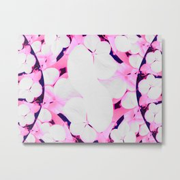 Hydrangeas - Pink & Blue Overlay Metal Print