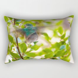 Hummingbird Summer Blur photography by CheyAnne Sexton Rectangular Pillow