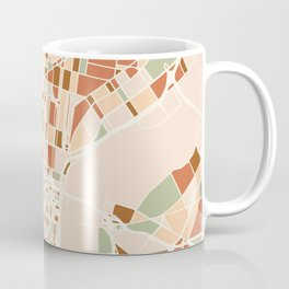 PHILADELPHIA PENNSYLVANIA CITY MAP EARTH TONES Coffee Mug