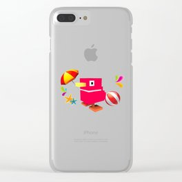 Duck Royale 3D - Game Paused Design Clear iPhone Case