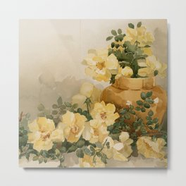 Yellow Flowers - Date Unknown Metal Print