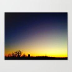 Granular Sunset 2 Canvas Print