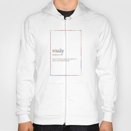 STUDY 521 Watercolor Map Yoga Quote Definition Des Hoody