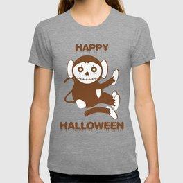 Dead Monkey Happy Halloween T-shirt