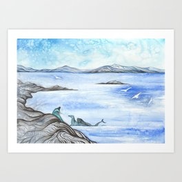 Wintry Scenery II Art Print