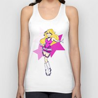 tomb raider Tank Tops featuring Princess Peach Raider by Ashly Picazo