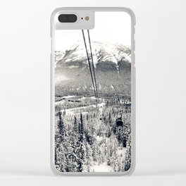 Cable Cars to the Summit of Sulphur Mountain Clear iPhone Case