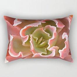 Living Coral Succulent Rectangular Pillow