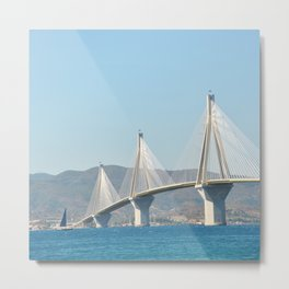 Rio Antirrio Bridge Metal Print