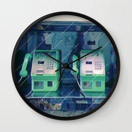 public telephone Wall Clock