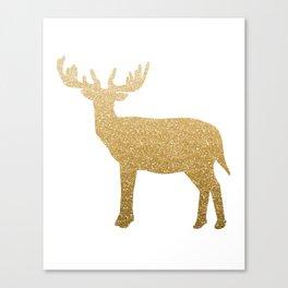 Standing Gold Deer Canvas Print