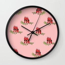 Sturt Desert Pea Wall Clock