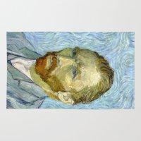 van gogh Area & Throw Rugs featuring Vincent van Gogh by Premium