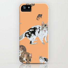Eastern Quoll (Dasyurus viverrinus)  mandarin iPhone Case