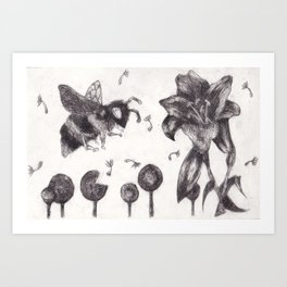 Bee Happy 3 Art Print