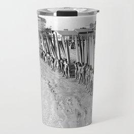 Long Beach Surf Contest 1930s Travel Mug