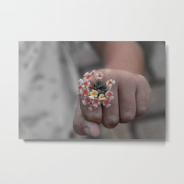 Ella's Hand- The Lantana Days [One Extracting Colours] Metal Print