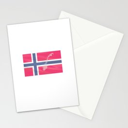 only to Norway Fjord Team Fishingtour Friends Vacation Stationery Cards