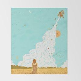 ROCKET LAUNCH Throw Blanket